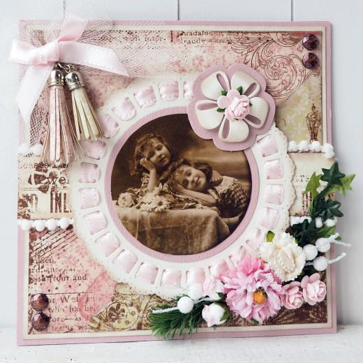 Cure die from Marianne Design Craftables Cutting Dies - Ribbon Doily & Rosette CR1350