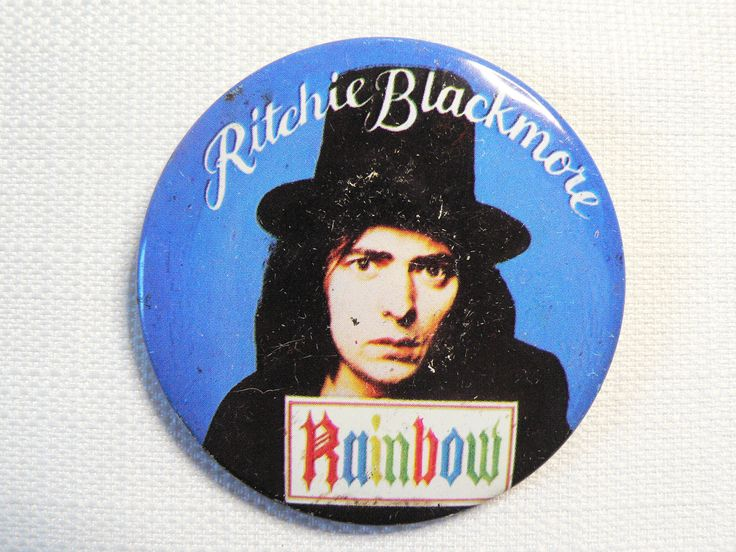 BIG Vintage 1970s Ritchie Blackmore - Rainbow - Pin / Button / Badge by beatbopboom on Etsy