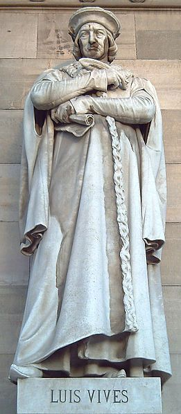 Estatua del gran humanista español Juan Luis Vives (1492-1540) de la Biblioteca Nacional de España, Madrid