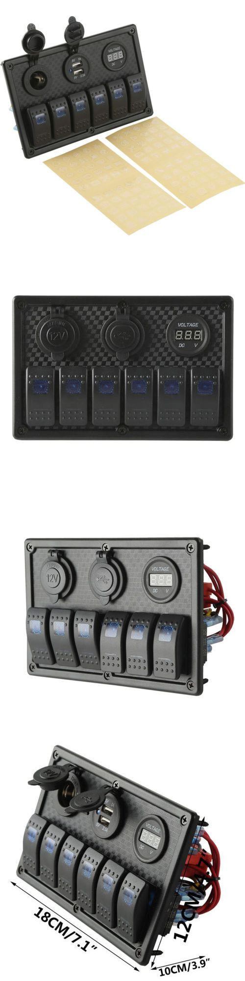 boat parts: 6 Gang Marine Rv Led Rocker Switch Panel Dual Usb Voltmeter Power Supply Socket -> BUY IT NOW ONLY: $45.99 on eBay!