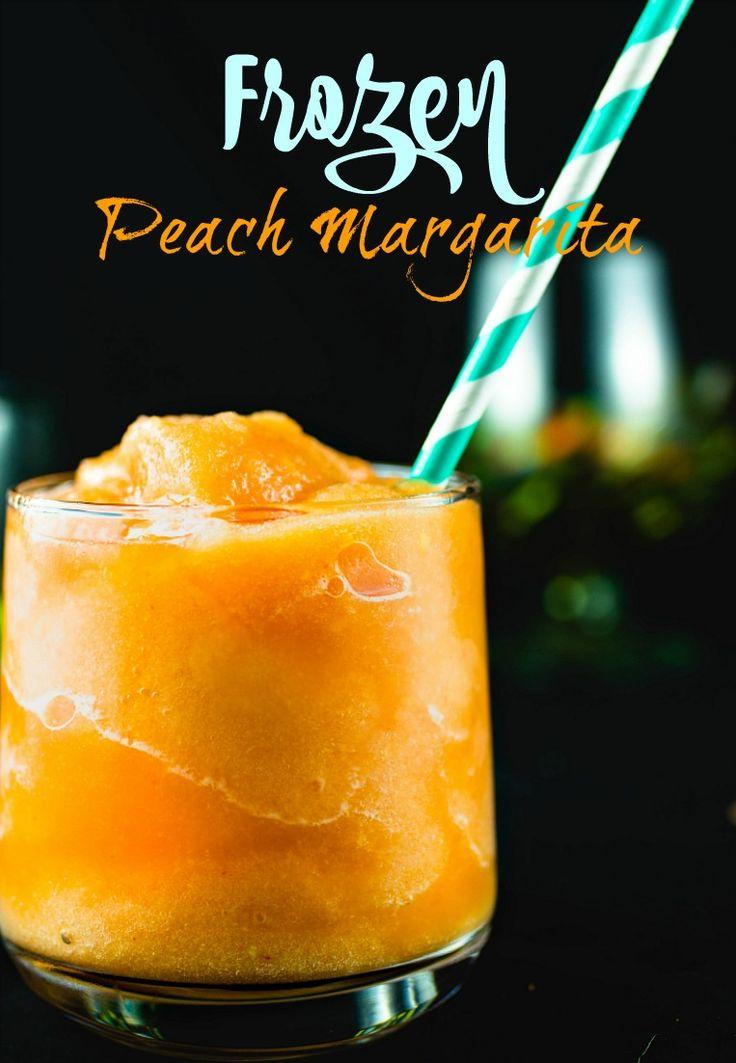 Easy Frozen Peach Margaritas- San Francisco|Chef|Food Blogger|Easy Recipes