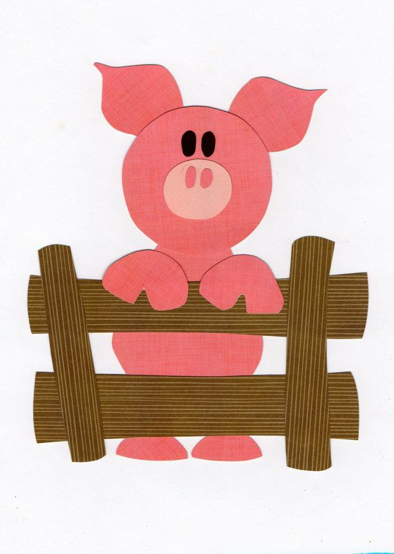 Applique Template Farm Animal Pig by ForgetMeNotByMarie on Etsy, $2.00