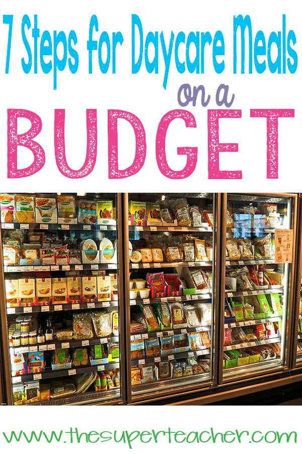 Meal planning and shopping can be overwhelming and tiring. When groceries get expensive and daycare kids are picky eaters, meals get even more frustrating. Go to the blog to read the Seven Steps for Daycare Meals on a Budget.