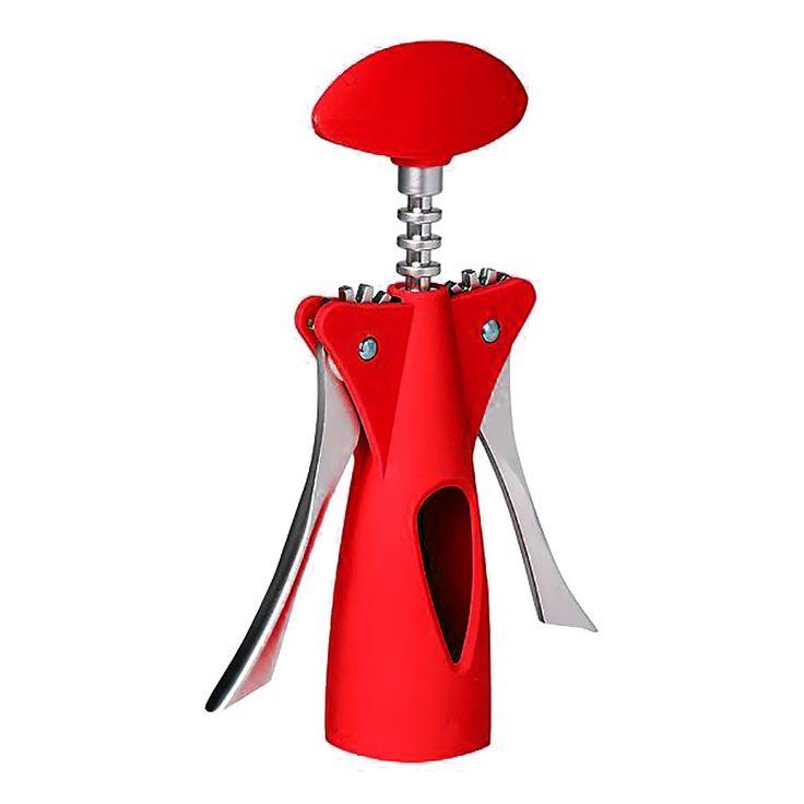 Saca Rolha Vermelho para Vinho Kitchen Craft - Presentes Criativos! - MariaPresenteira
