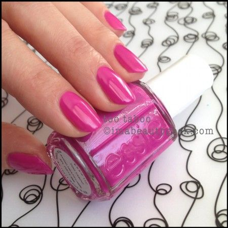 Essie Too Taboo without white base polish_Essie Neon Too Taboo 2014