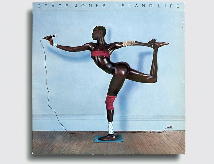 Grace Jones, Island Life (Island Records, 1985), photograph by Jean-Paul Goude; from Total Records: Photography and the Art of the Album Cover (Aperture, 2016)