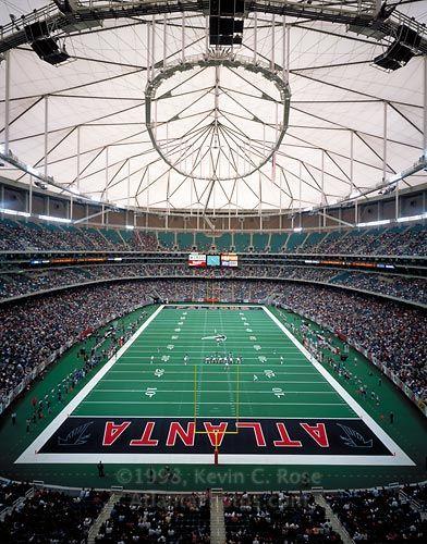 Atlanta Falcons at the GA Dome.