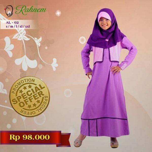 Jual beli Baju Gamis Anak Rahnem Anak Limited AL- 02 di Lapak Aprilia Wati - agenbajumuslim. Menjual Dress - Rahnem Anak Limited AL- 02 Kode : AL- 02 Warna : Ungu  Rahnem Anak Limited AL- 02 Harga : Rp. 98.000  Size : S, M, L, XL, XXL, XXXL TANPA JILBAB  Rahnem adalah busana muslim yang mempunyai karakter berbeda dengan produk sejenis lainnya, seperti:  Mengutamakan kualitas dan konsistensi dari segi bahan baku dan jahitan. Inovasi dengan mode dan style yang dinamis, senantiasa berubah…