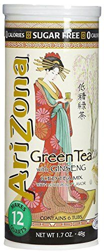 Arizona Sugar Free Green Tea w Ginseng Iced Tea Mix Tubs in Cannister  17 oz >>> Visit the image link more details. Note: It's an affiliate link to Amazon.