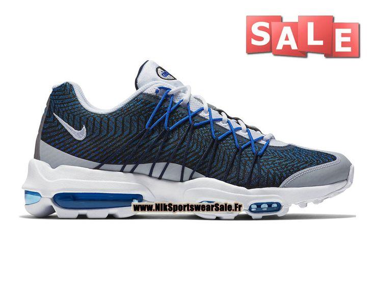super cute 2d810 0b39c ... Nike Air Max 95 Ultra Jacquard - Chaussure Nike Sportswear Pas Cher  Pour Homme Bleu nuit