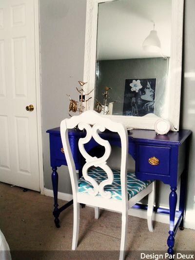 vanity desk - repainted