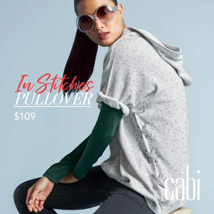 cabi Fall 17 New Release Regent Regal coming November 8th:  The In Stitches Pullover. Easy, relaxes french terry fabric.  Contact me to preorder now @jeanettemurphey@gmail.com.  More @ jeanettemurphey.cabionline.com, open 24/7