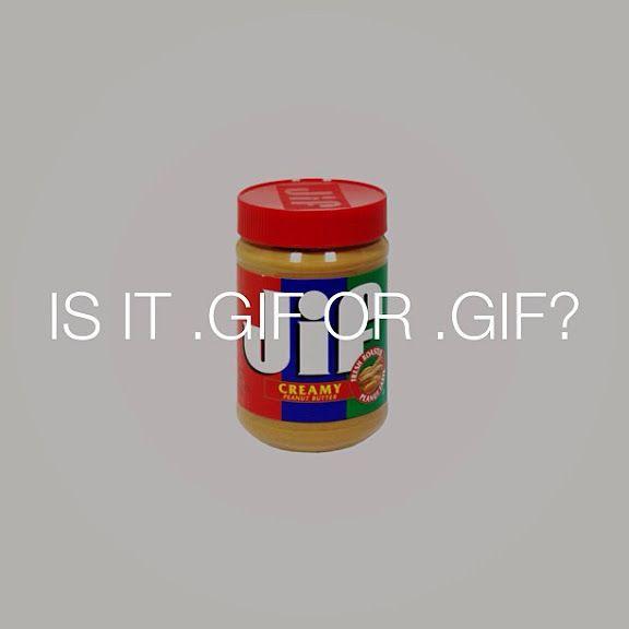 """GIF"" or ""JIF @dblback  Talking Food on Tumblr"