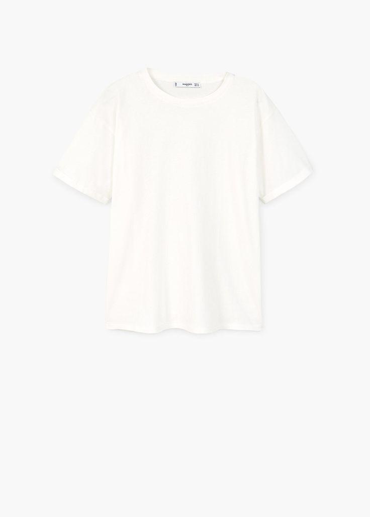MANGO – White T-Shirt | Leandra Medine x Mango