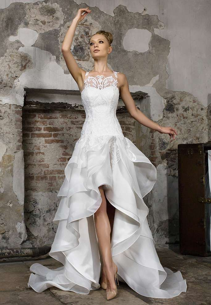 Abiti da sposa Gritti dalla collezione 2017 - Abito da sposa asimmetrico