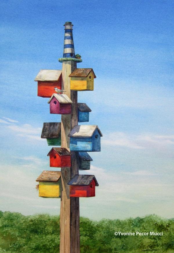 birdhouses mucci watercolor