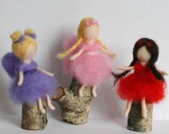 Custom made needle felted fairy Waldorf fairy One of a kind