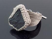 Bransoletka z węglem kamiennym - Czarna Dama
