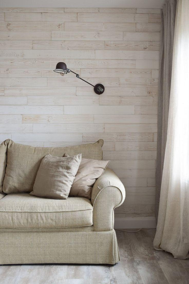 Naturlich Renoviert Und Dekoriert Das Wohnzimmer Ist Fertig Wandverkleidung Holzpaneele Holz Wohnzimmer