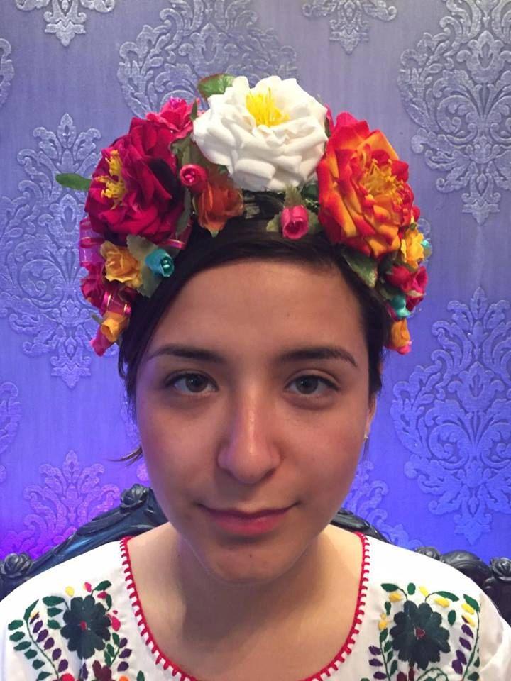 frida kahlo floral headband day of the dead flowers floral crown headpiece wedding cinco de mayo
