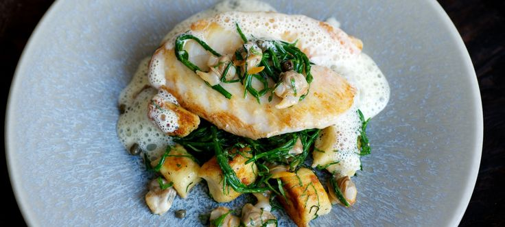 Pan-fried John Dory and Gnocchi with Cockle Velouté