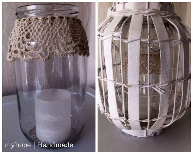 Handmade jar for candle | Christmas mood #myhope #candles #diy