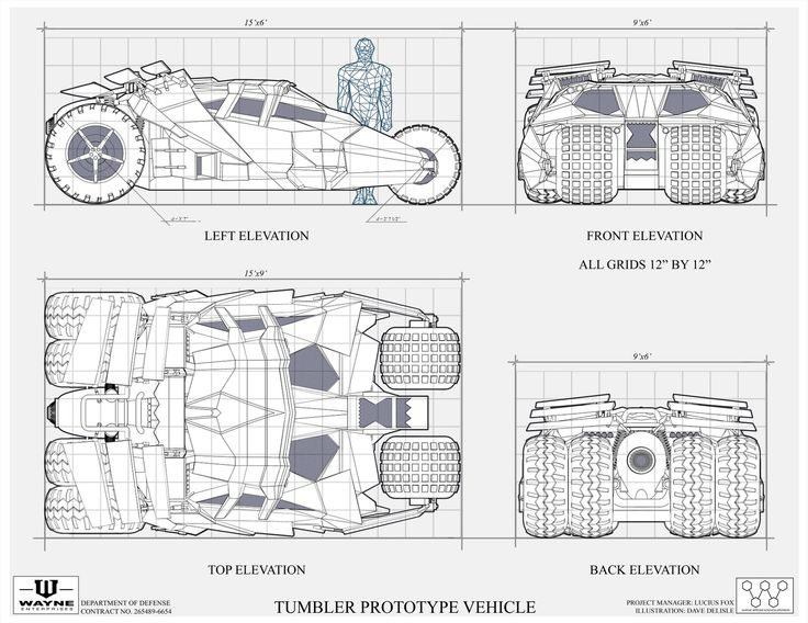 370 best the bat ride images on pinterest batmobile dark knight tumbler blueprint by daves geeky ideas malvernweather Gallery