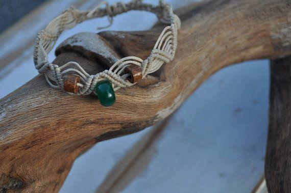 Semiprecious Gemstone Macrame Bracelet by LunaMater on Etsy
