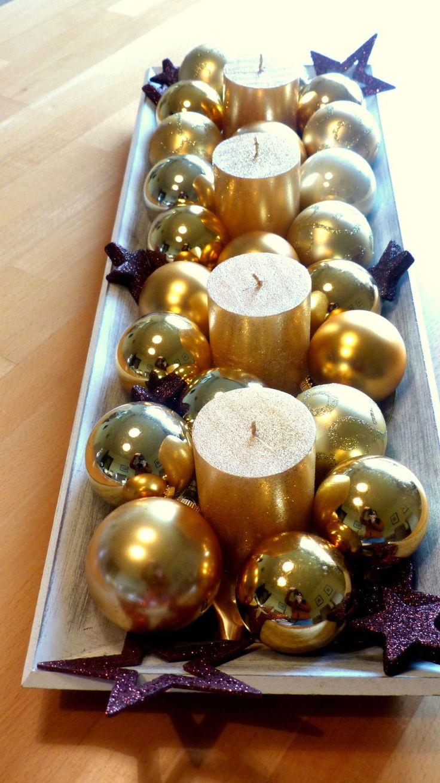 Die besten 25+ Gold Weihnachtsschmuck Ideen auf Pinterest | Gold ...