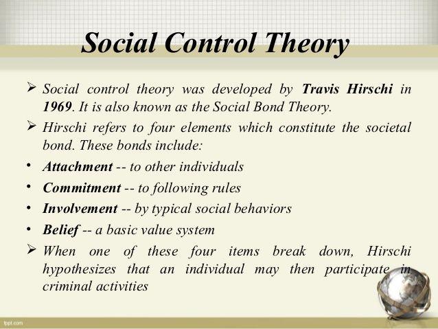 Social Control Theory Social Control Control Theory Social Behavior