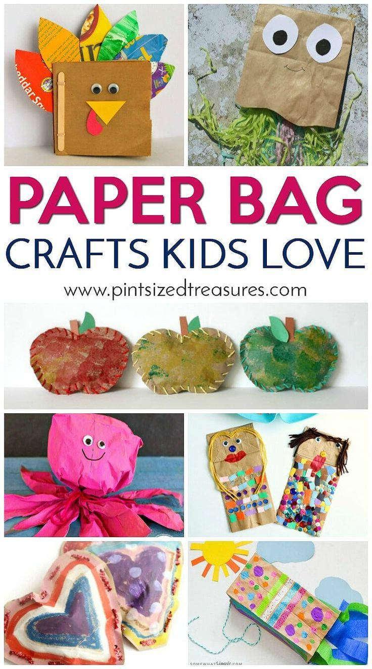 Paper Bag Crafts Kids Love The Group Board On Pinterest Paper