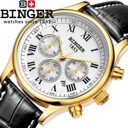 US $69.93 - 100% Authentic Binger 2017 New Fashion Top Quality Stainless Steel Geneva Women Watches Automatic Army Watch Men's Wristwatch
