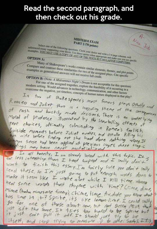 best smh kids images funny stuff funny  epic test answer the second paragraph and then check out his grade