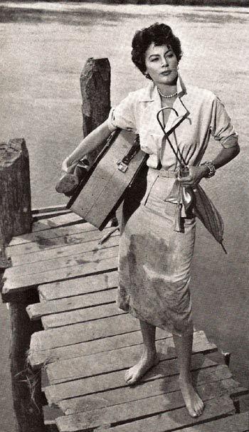 1953年『モガンボ』に出演したエヴァ・ガードナー☆