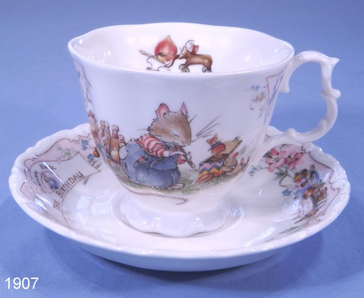 Royal Doulton Brambly Hedge Bone China Tea Cup & Saucer - The Birthday