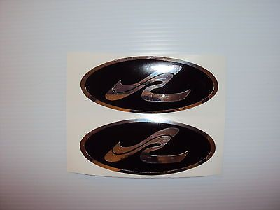 4 Sea Ray Boat Decals  Marine Vinyl chrome & black This set of 4 is 6 x 2.5 inch