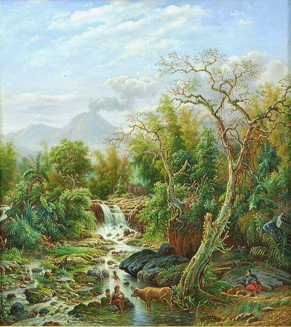 Maurits vd Kerkhoff - Pemandangan sungai Brantas, Malang (1891) #3