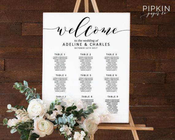 29 best Seating Chart Ideas images on Pinterest Wedding decor - wedding charts