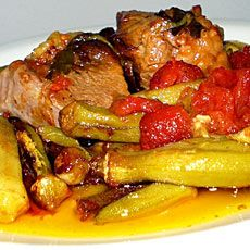 Beef Stew with Okra
