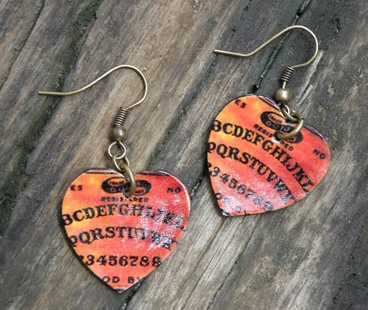 vintage witch | Ouija Board Vintage Witch Board Hearts Dangle Earrings Wiccan Pagan ...