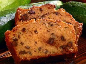Chocolate chip zuccini bread.  Made half into muffins. Very yummy.