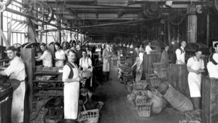 Seventy per cent of all boots used by the British Army in World War One were manufactured in the town of Northampton. One company, Crockett and Jones, saw its output double during the conflict, with many women newly employed to help cope with demand.