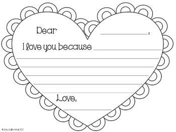 valentine writing paper kindergarten