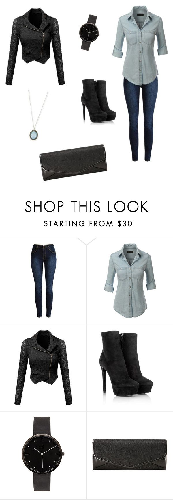 """KATE BECKETT INSPIRED OUTFIT"" by caitzzz ❤ liked on Polyvore featuring LE3NO, Prada, I Love Ugly, J. Furmani, Armenta, women's clothing, women, female, woman and misses"