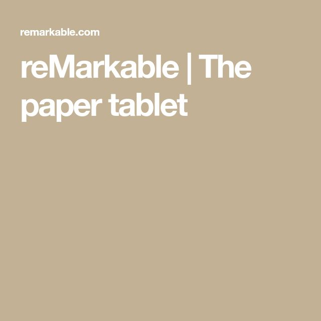 reMarkable | The paper tablet