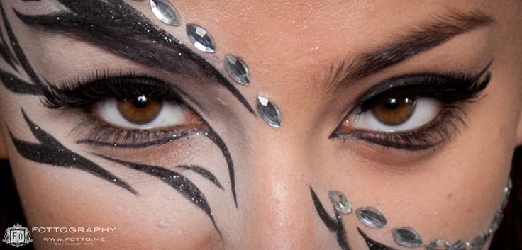 Shooting unserer Make-up-Artist-Schüler. Thema: Animal- und Candy-Make-ups.