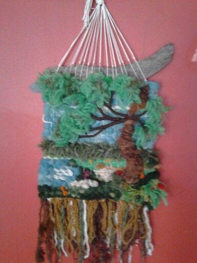 Telar campestre, lana natural $25.000 sandra___635@hotmail.com