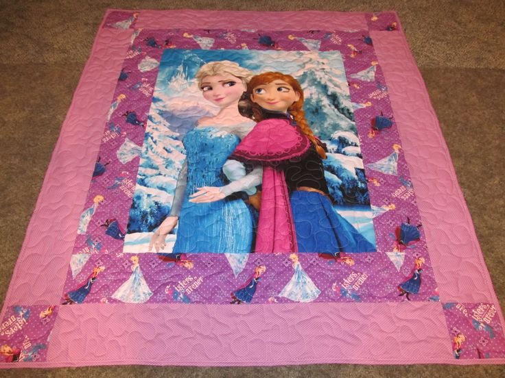 "Elsa and Anna Quilt - Frozen Quilt - Disney's Frozen Quilt - Sisters Forever Quilt - 48"" x 55"" by TheKingsQuiltShop on Etsy"