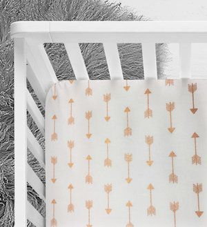 Rose Gold Arrows crib sheet, baby nursery