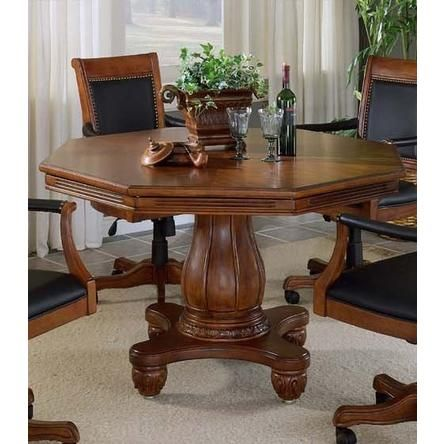 Hillsdale Kingston 2 In 1 Pedestal Poker Dining Table